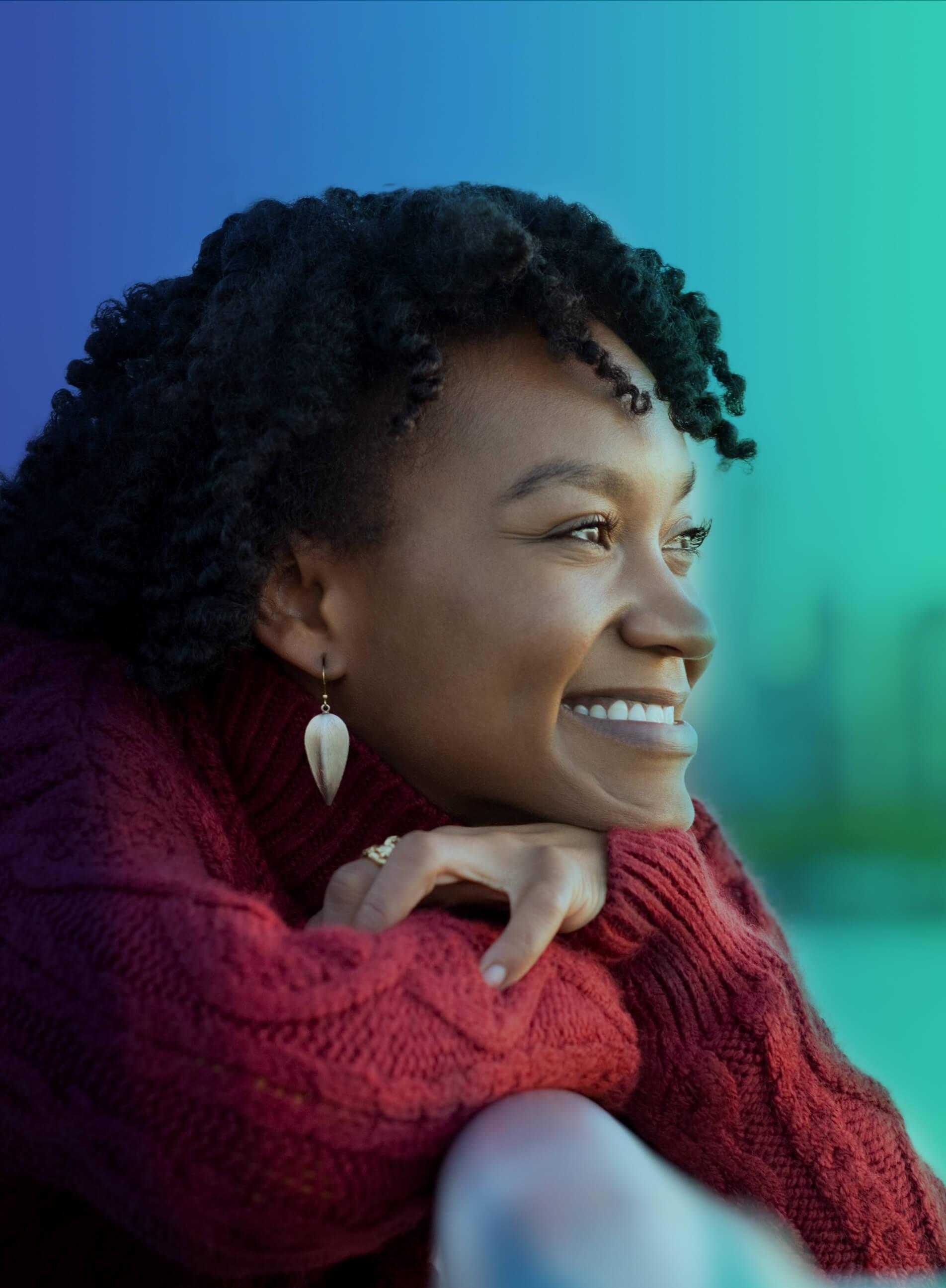 Smiling woman image